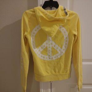 Victoria's Secret Pink Peace Hood Sweater XS